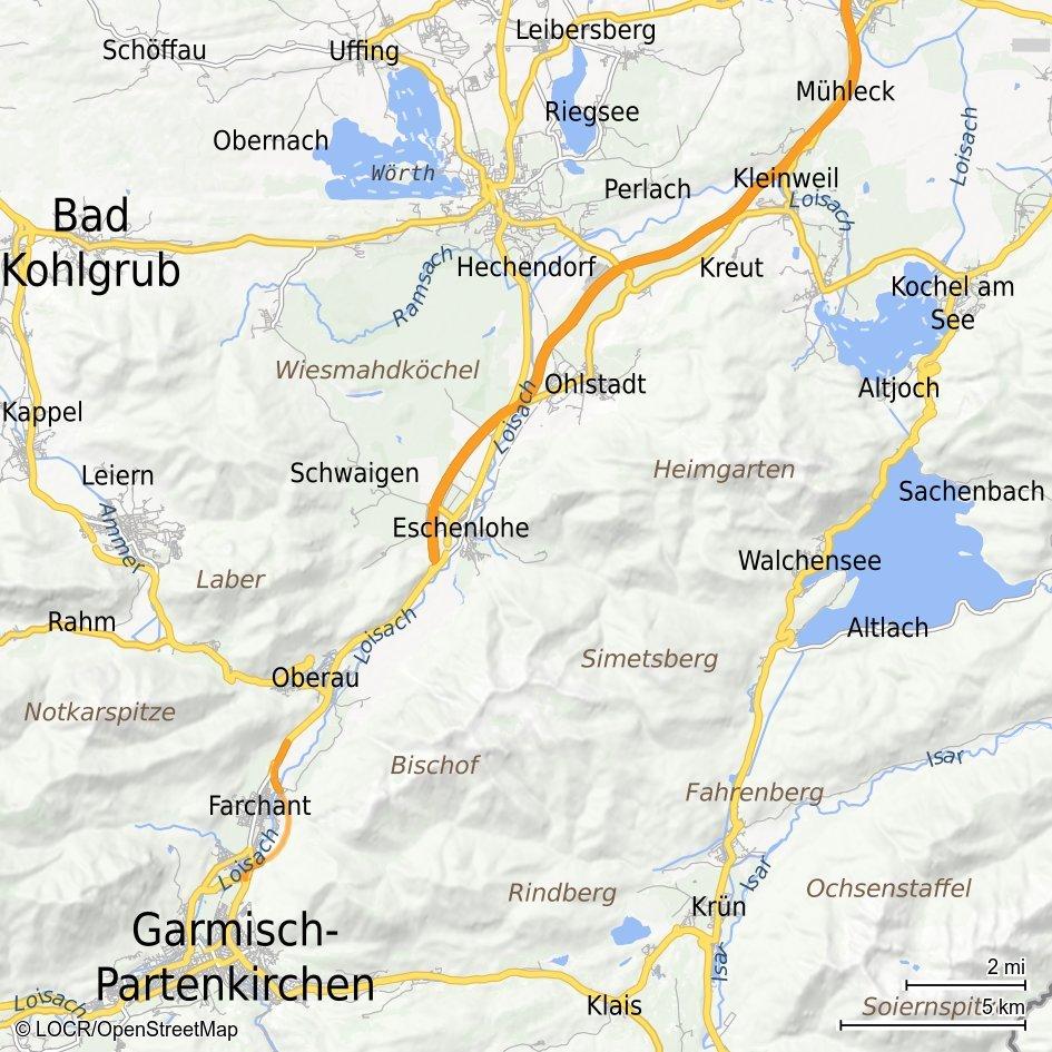 Individualisierte locr Standortkarte Garmisch-Partenkirchen LOCALmaps für standortbasiertes Marketing