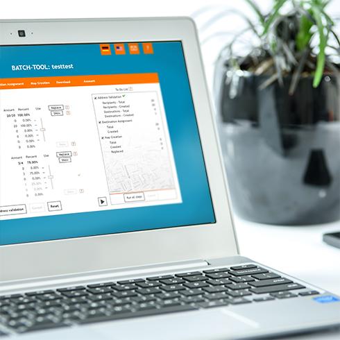 locr BATCH Tool Anwendung für GEOservices und individualisierte Karten