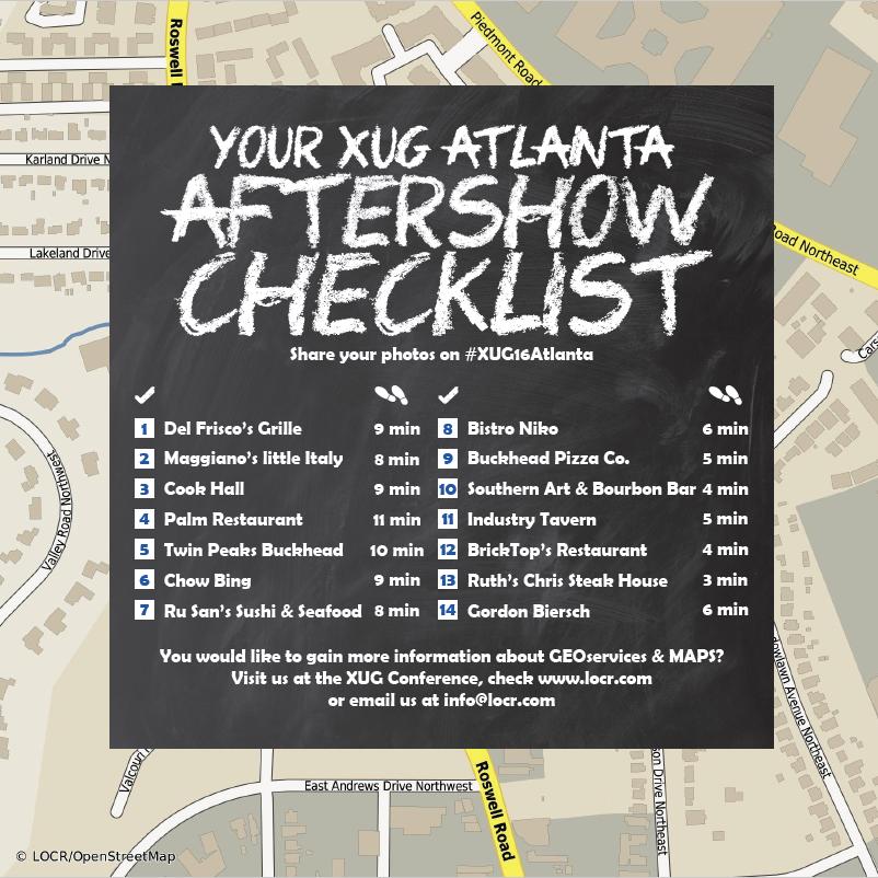 locr XUG16 Atlanta Aftershow Guide Bars Restaurants