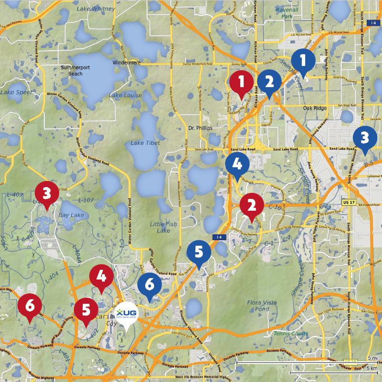 locr GEOservices und Karten XUG17 Orlando Aftershow Guide Karte