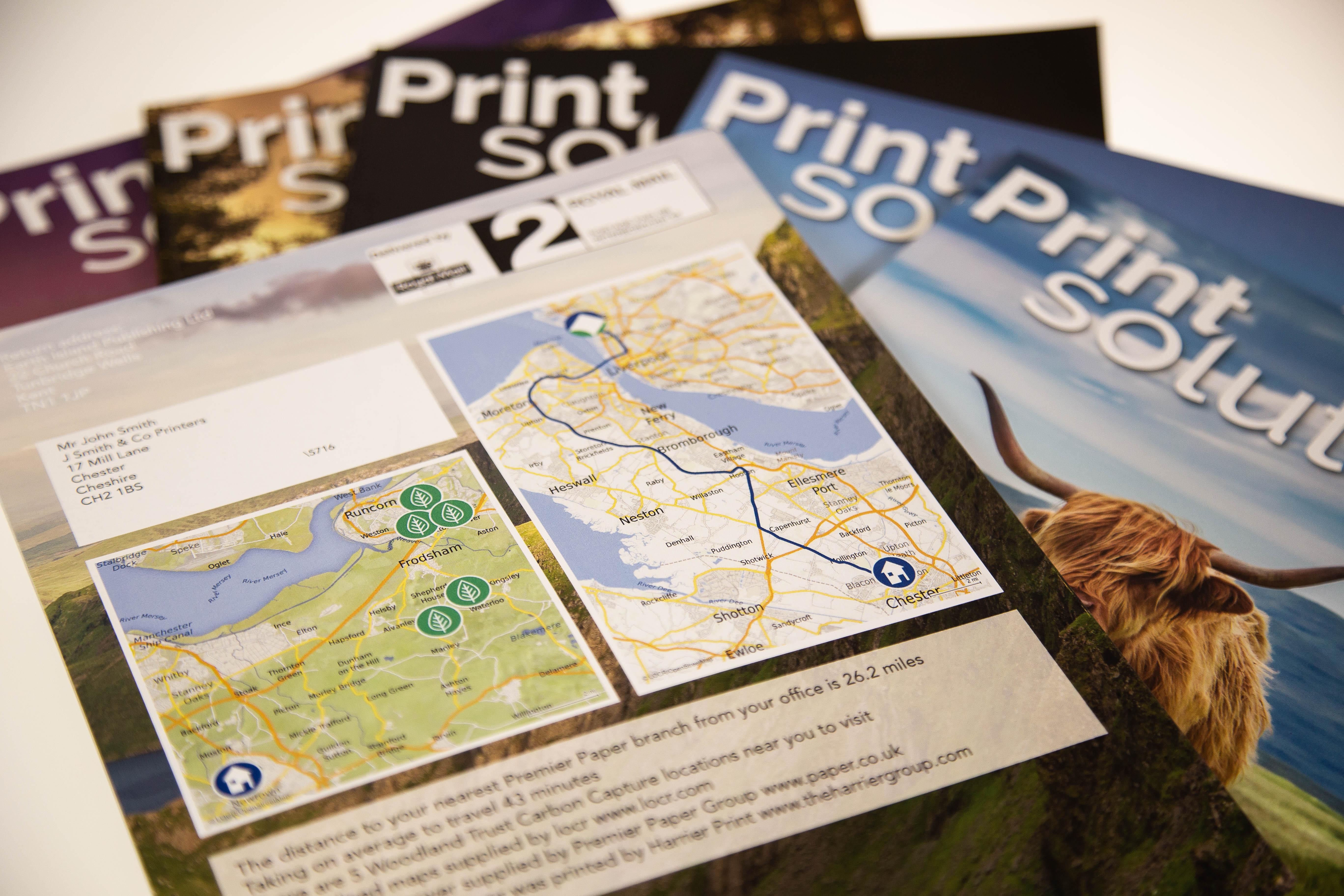 Print Solutions Magazine locr individualisierte Karten