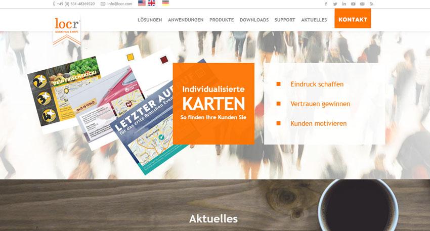 locr geoservices und karten website screen