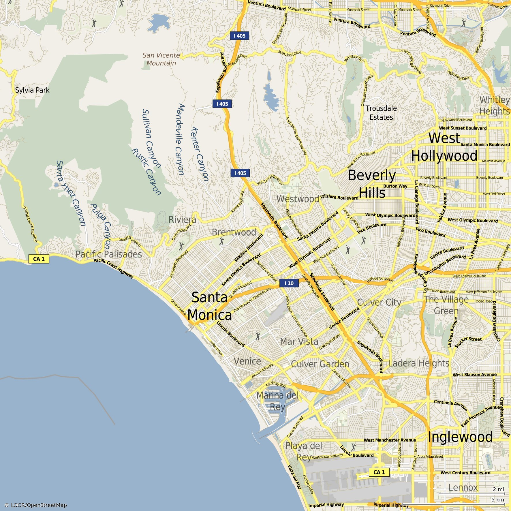 What are the kinds and styles of personalized maps locr EN