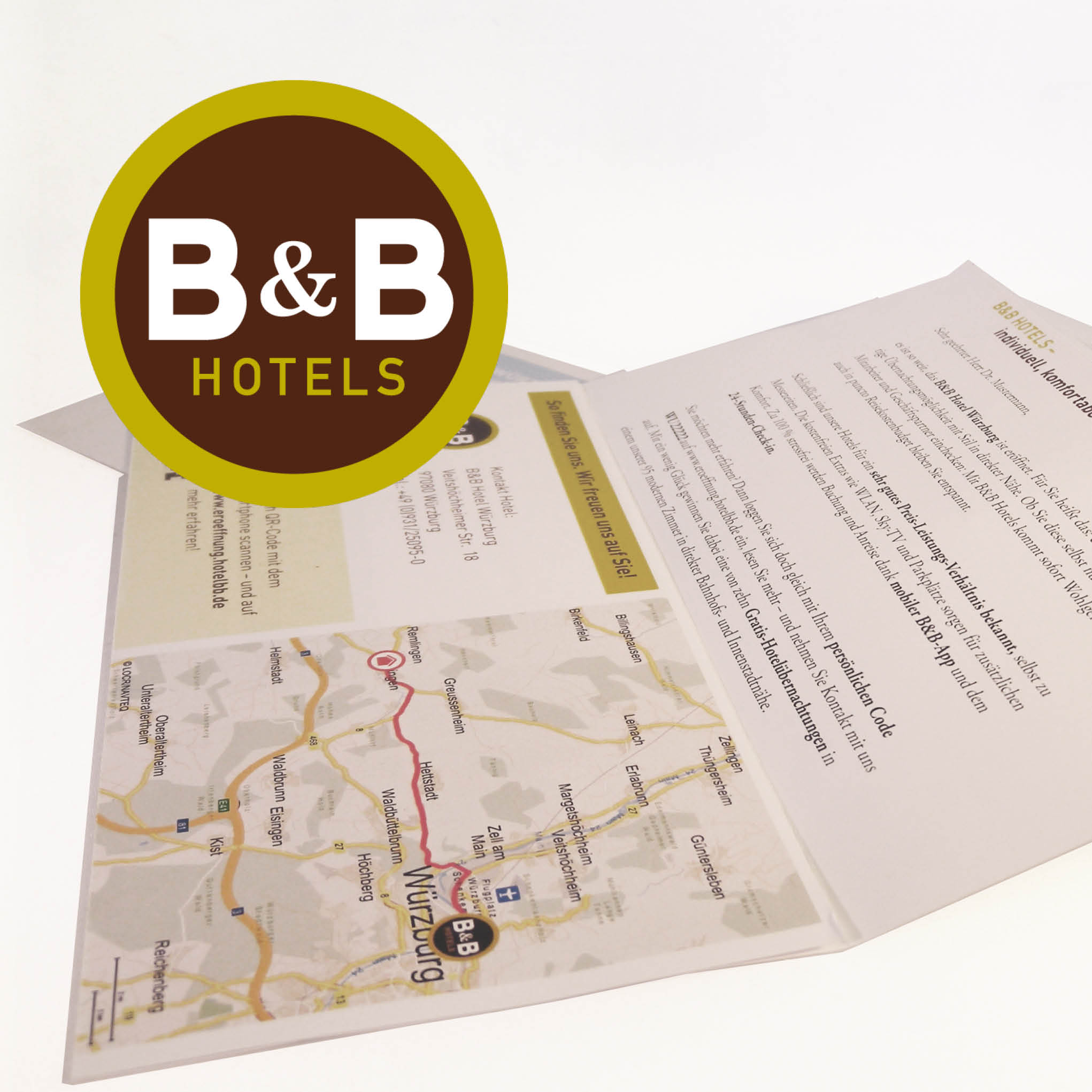 B&B Hotels use locr personalized maps for direct marketing in direct mail campaign to boost awareness