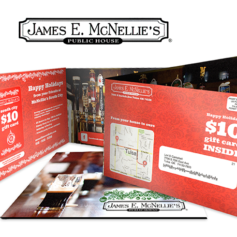 James E. McNellies direct mail campaign with personalized maps from locr to optimize customer communication and response rates