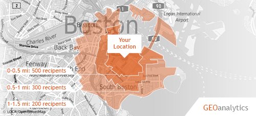 locr GEOservices for location-based printed direct mail marketing