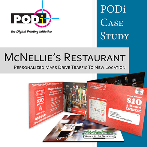 PODi Case Study Mc Nellie's Restaurant uses personalized maps to drive traffic to new location