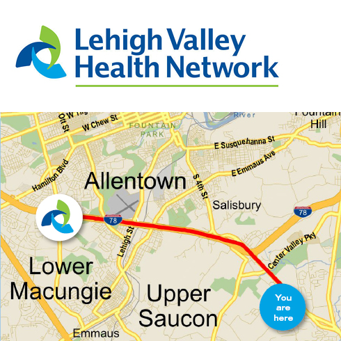 Lehigh Valley Hospital Healthcare Provider Direct Mail Marketing Campaign With locr Personalized Maps