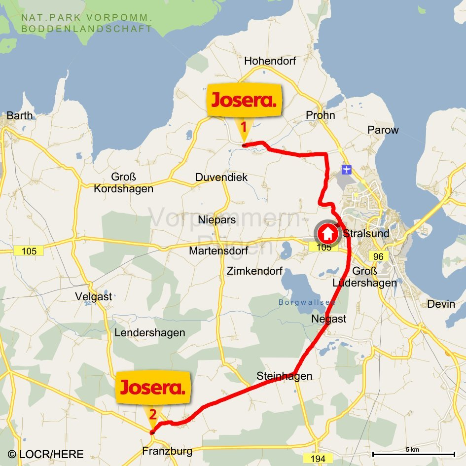 locr Case Study Josera Direct Mail Campaign Personalized Maps