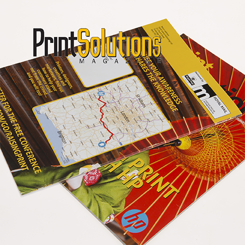 Print Solutions Magazine publish personalized maps by locr for event marketing digitally printed