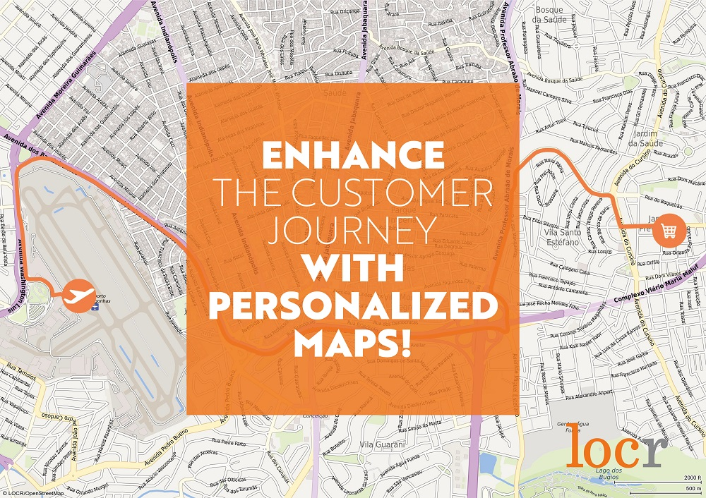 Enhance the customer journey with personalized maps from locr
