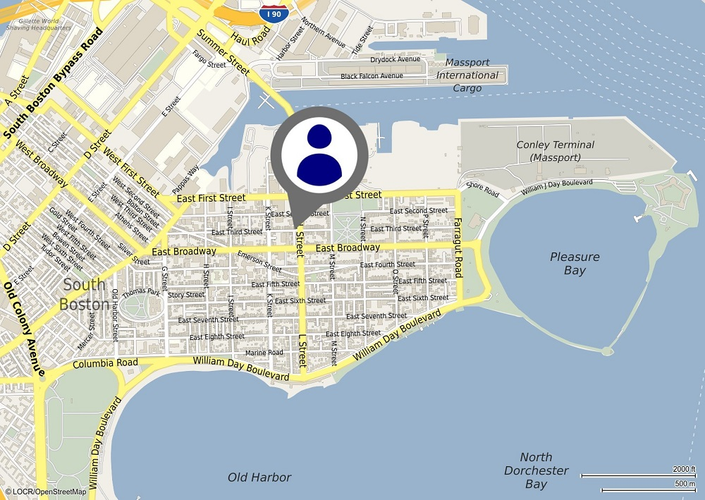 locr personalized maps Boston LOCALmaps Style 3 Direct Mail