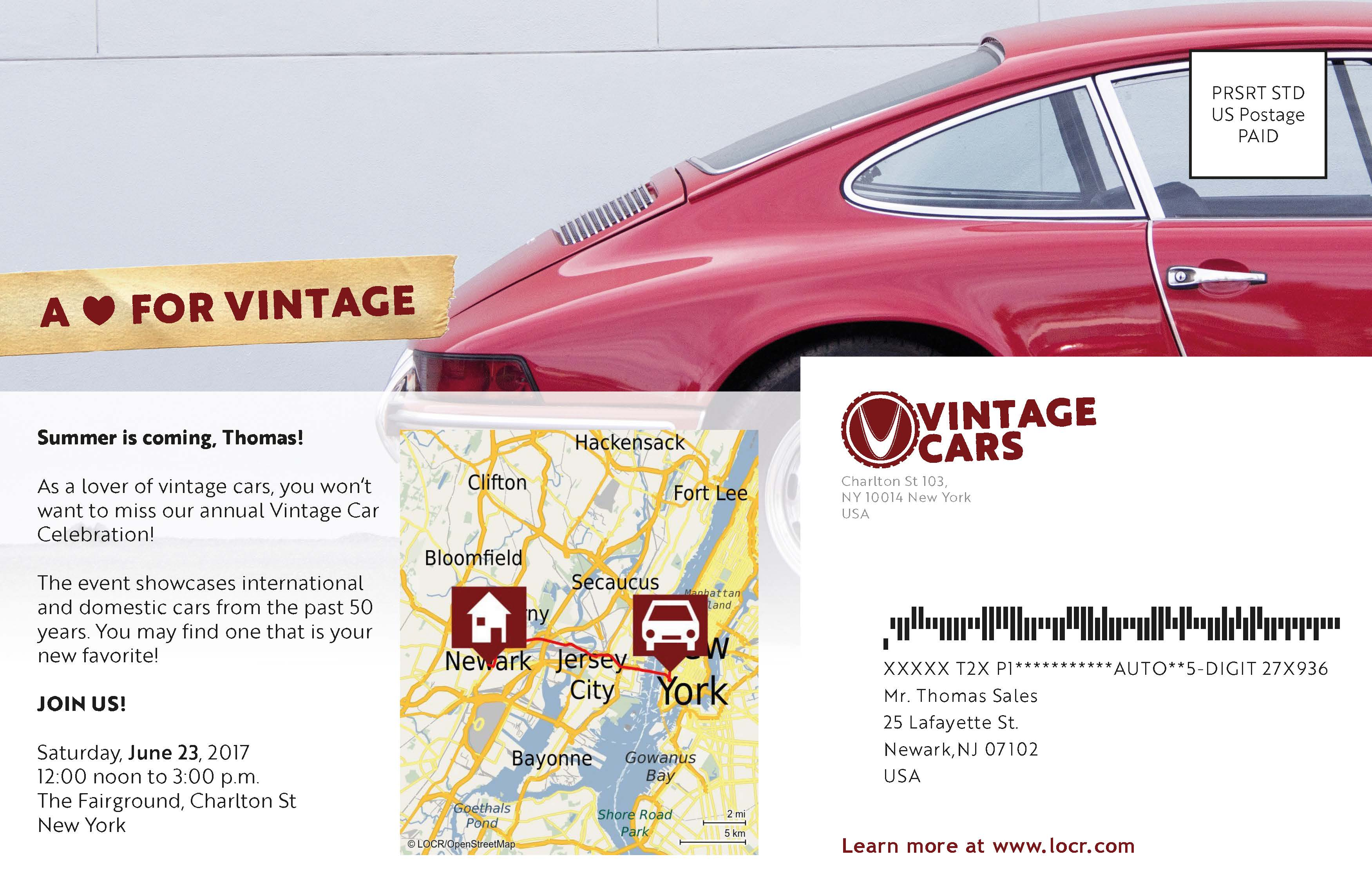 Creative Automotive Event Invitation With Personalized Maps From locr