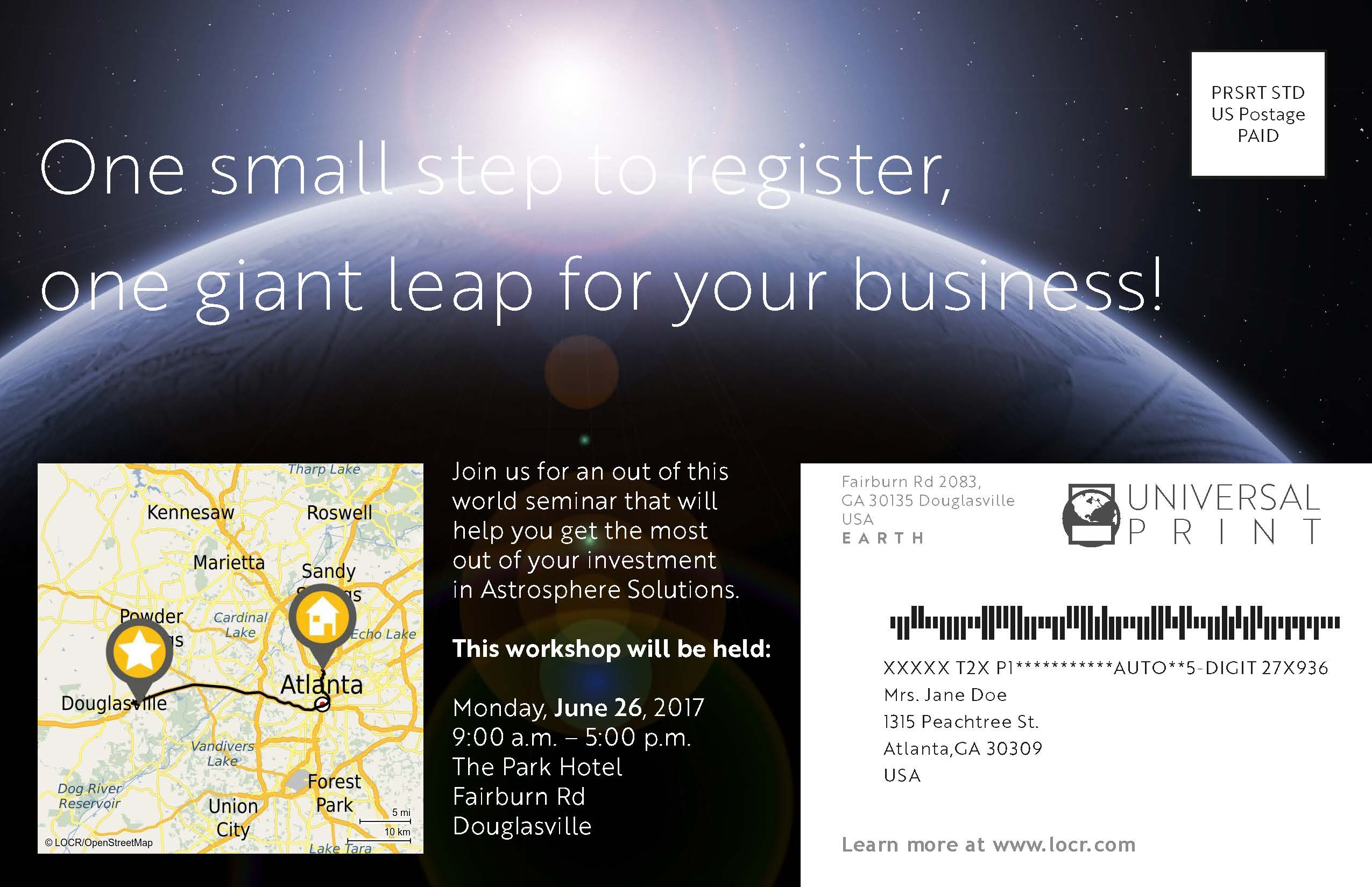 Creative Space Invitation Example With locr Personalized Maps