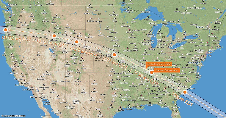 Locr Talks Solar Eclipse 2017 Locr En - Us-total-eclipse-2017-map