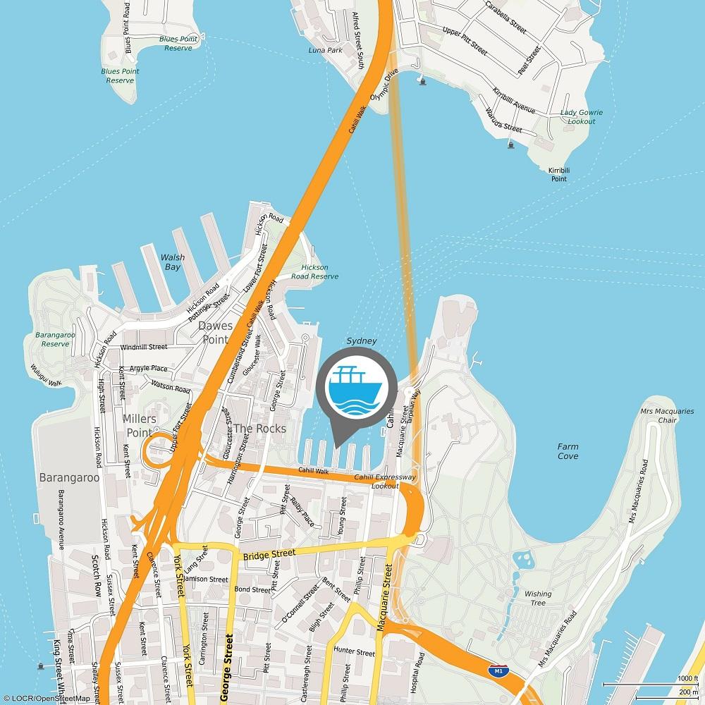 locr personalized maps LOCALmap Sydney Circular Quay