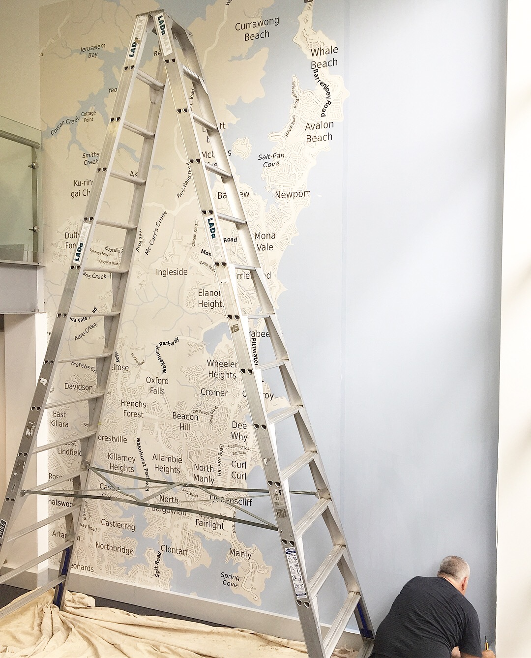 locr personalized map wall size for Mister Wallpaper Office Australia