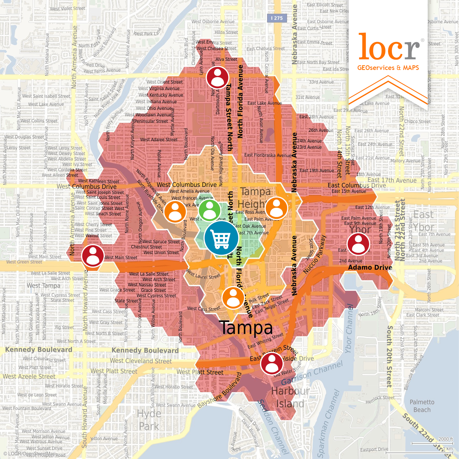 locr GEOservices and Maps Heatmap Address Assignment
