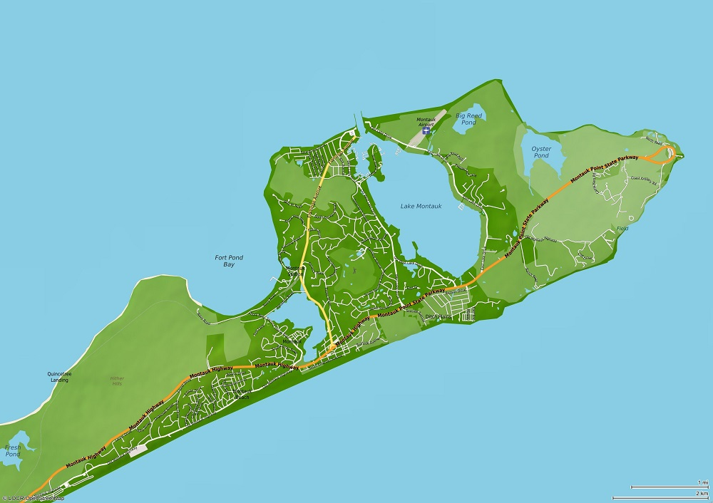locr GEOservices and Maps - Montauk Map