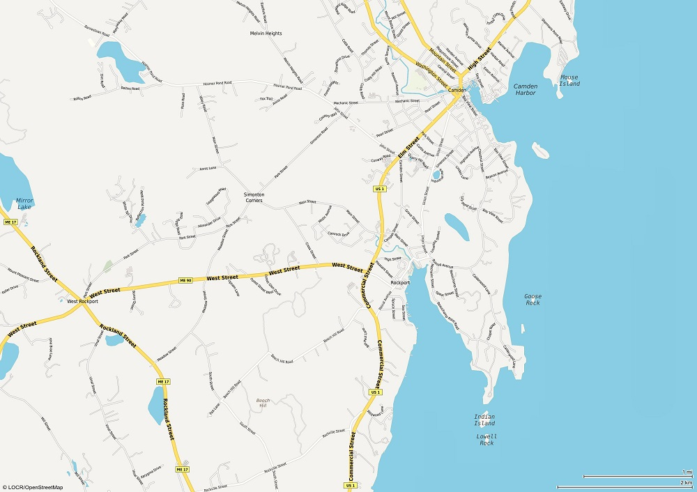 locr GEOservices and Maps Rockport Map